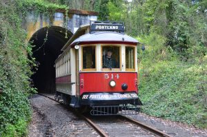 Willamette Shore Trolley at Elk Rock Tunnel